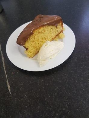 Victoria Sponge Chocolate Cake Slice