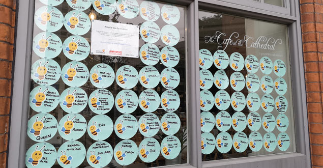 Adopt a bee cafe window space